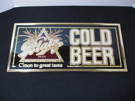 "Blatz ""Cold Beer"" Advertising Mirror"