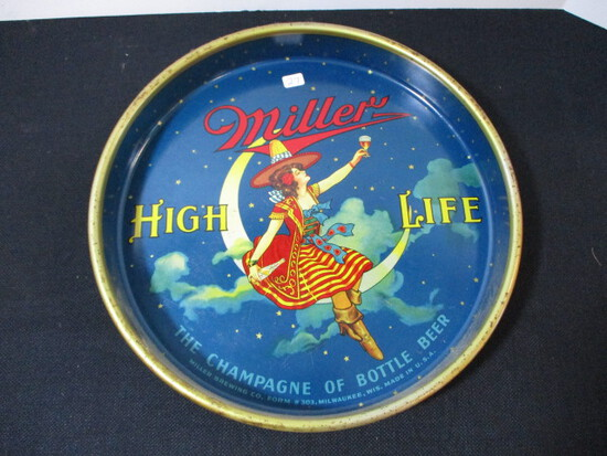 Miller Girl in the Moon Advertising Beer Tray (A)