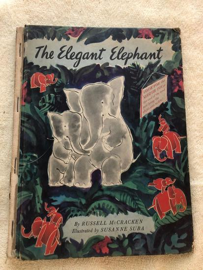 1930 Webster dictionary pocket size, First printing 1944 childrens book the Elegant elephant,