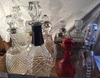 Lot of ten decanters