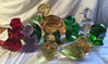 Lot of 11 figural glass paperweights