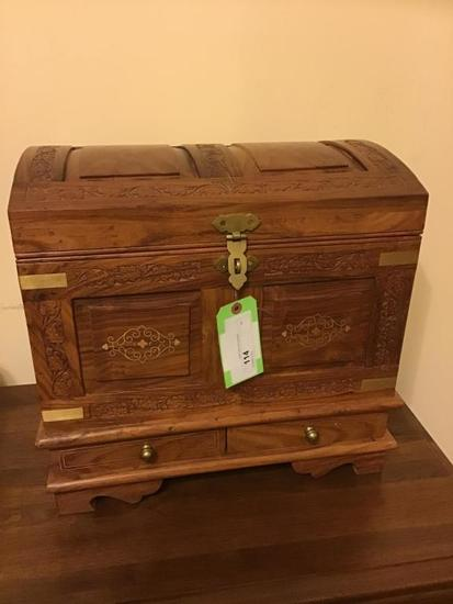 Large jewelry chest.  Lovely piece with top tray