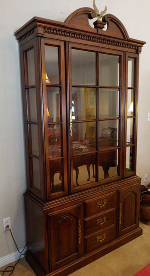 Hamden China cabinet.  88 tall x 43 wide.