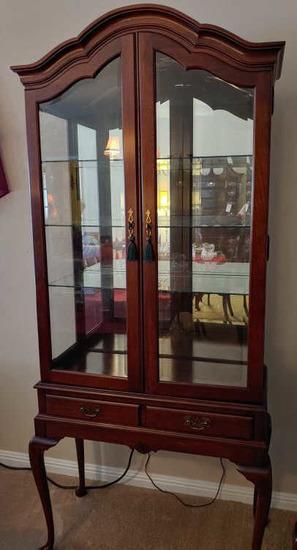 Display -china cabinet. Mahogany .  Jasper Cabinet