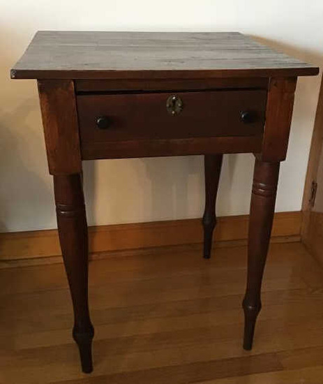 Early Pegged Table. Mixed Wood. Good Condition.