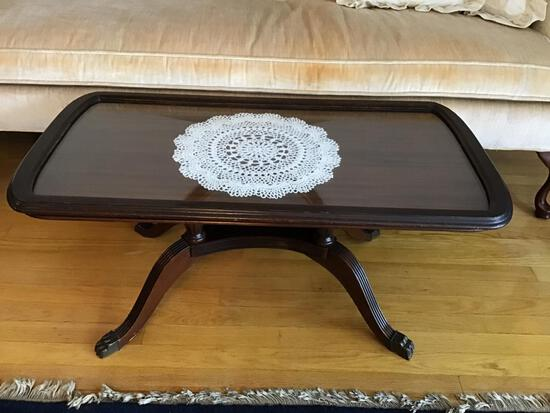 Tray Top Duncan Phyfe Glass Top Table