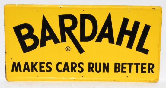 Bardahl Makes Cars Run Better Embossed Tin Sign