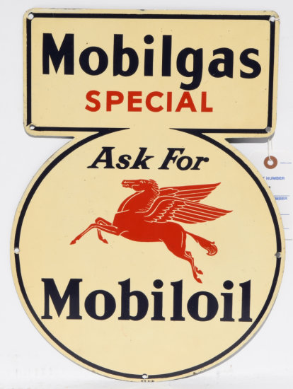 Mobilgas Special Tin Keyhole Sign