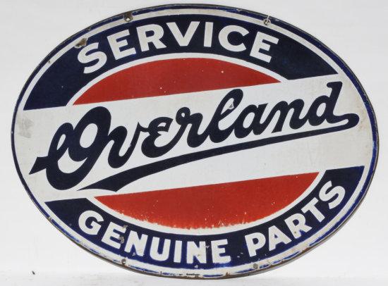 Overland Service Genuine Parts Porcelain Sign