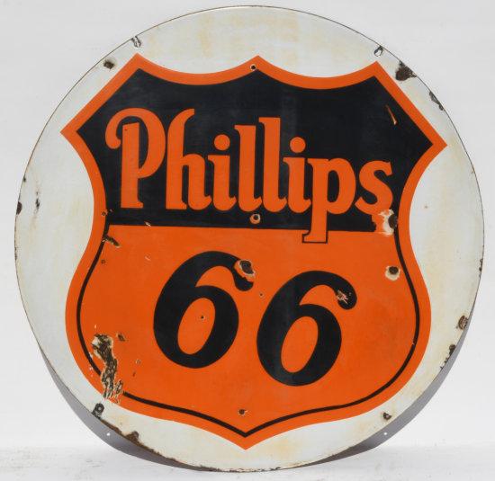 Phillips 66 Porcelain Curb Sign