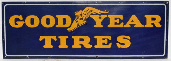 Good Year Tires Horizontal Porcelain Sign