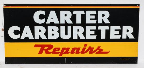 Carter Carbureter Repair Tin Sign