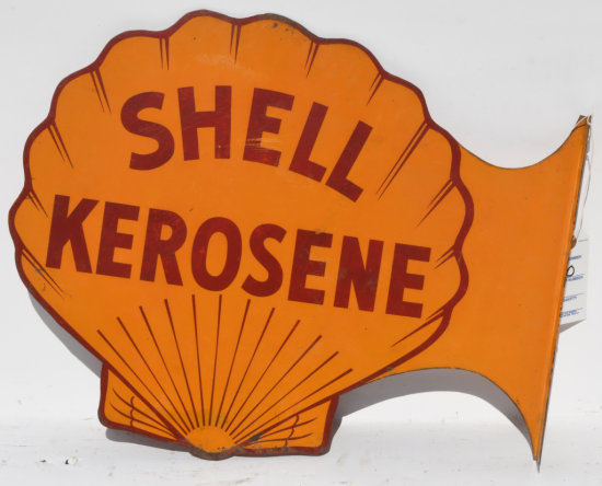 Shell Kerosene Diecut Tin Flange Sign