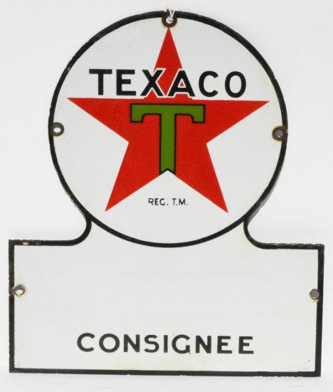 Texaco Consignee Keyhole Porcelain Sign
