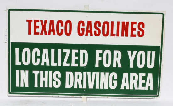 Texaco Gasoline Localized For You Tin Sign