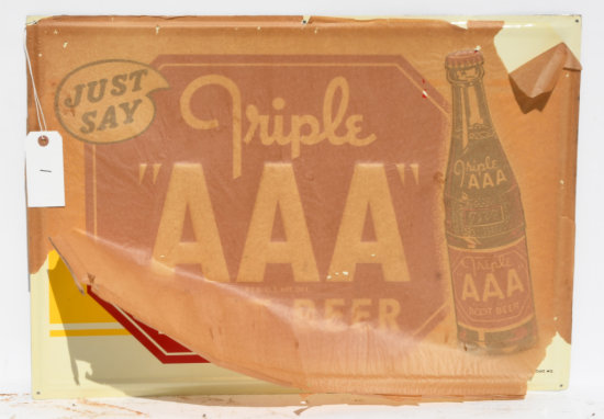 Triple AAA Rootbeer Tin Sign NOS