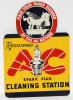 AC Spark Plug Cleaning Station Tin Flange Sign