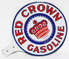 Red Crown Gasoline Porcelain Paddle Sign