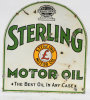 Sterling Motor Oil Tombstone Porcelain Sign