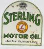 Sterling Motor Oil Tombstone Porcelain Sign