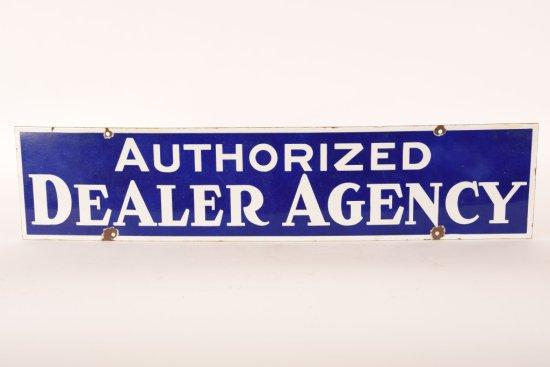 Authorized Dealer Agency Porcelain Sign