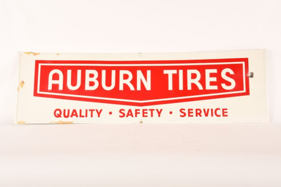 Auburn Tires Quality Safety Service Tin Sign