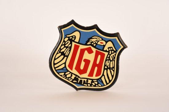 IGA Food Stores Porcelain Sign Badge