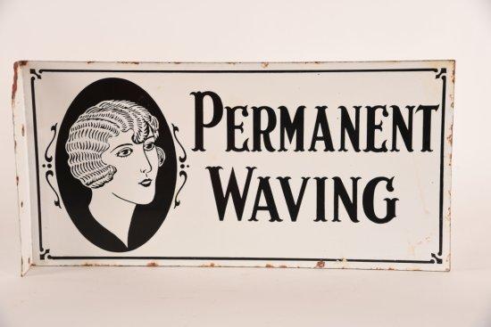 Permanent Waving Porcelain Flange Sign