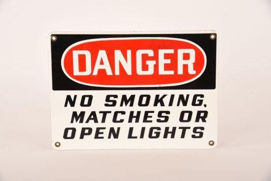 Danger No Smoking Porcelain Sign