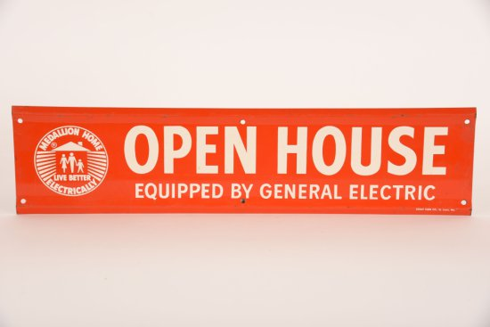 General Electric Open house Tin Sign