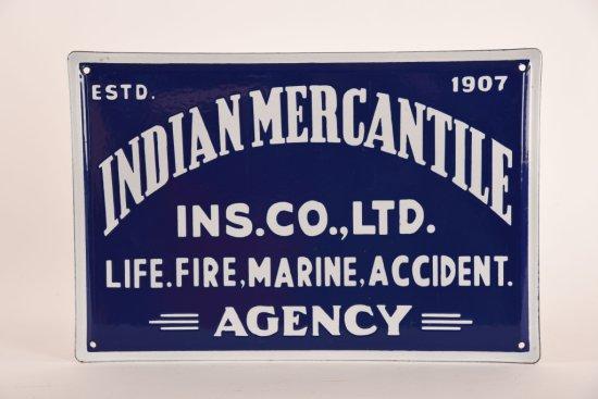 Indian Mercantile Agency Porcelain Sign
