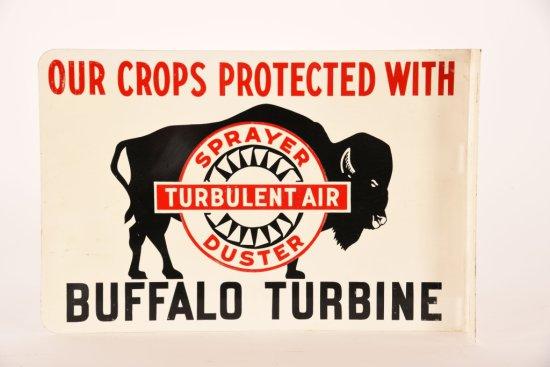 Buffalo Turbine Tin Flange Sign