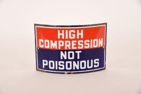 High Compression Curved Porcelain Sign