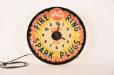 AC Fire Ring Spark Plugs Lighted Clock