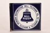 Southwestern Bell Telephone Company Porcelain Flange Sign