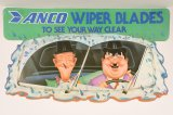 Anco Wiper Blades Laurel & Hardy plastic Sign