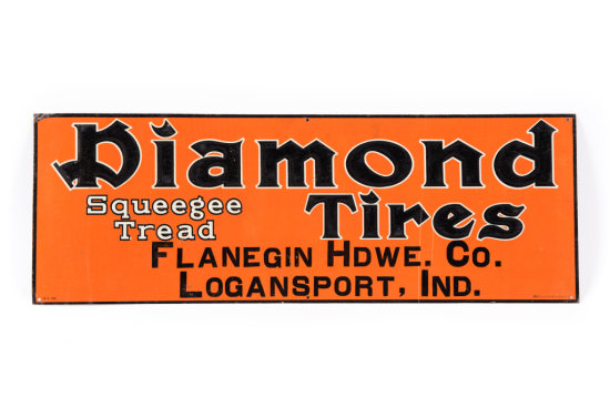 Diamond Squeegee Tread Tires Tin Sign