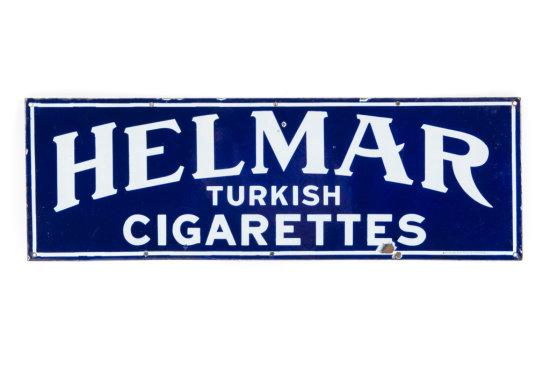 Helmar Turkish Cigarettes Porcelain Sign