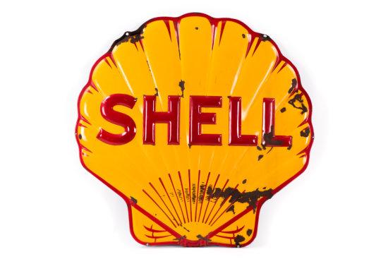 Shell Embossed Porcelain Neon Sign Panel