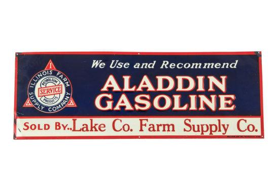 Aladdin Gasoline Horizontal Tin Sign