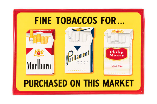 Marlboro Phillip Morris Cigarette Tin Sign