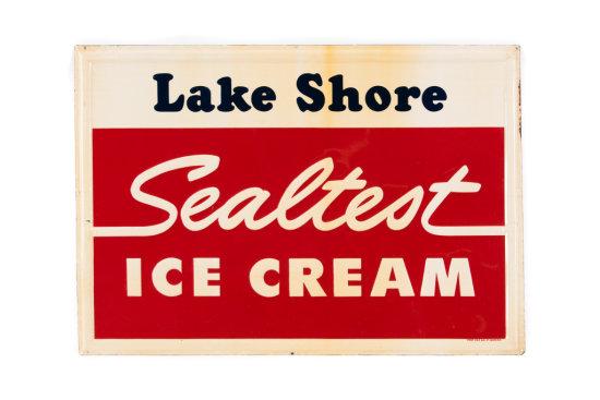 Lake Shore Sealtest Ice Cream Tin Sign
