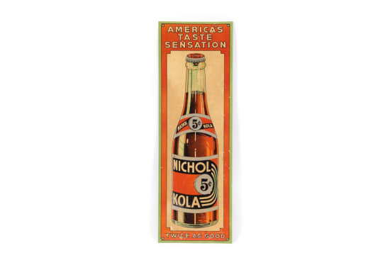 Nichol Cola Vertical Tin Sign