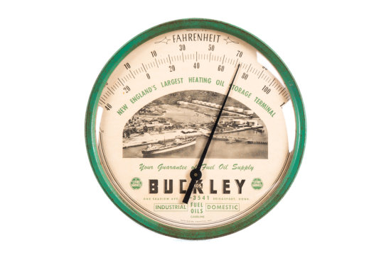 Cities Service Buckley Bros. Tin Thermometer