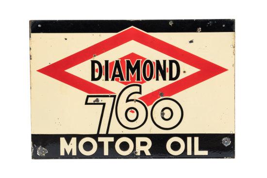 Diamond 760 Motor Oil Porcelain Sign