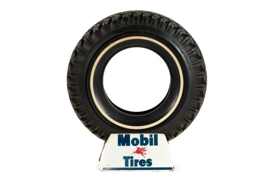 Mobil Tires Tire Display With Mobil Tire