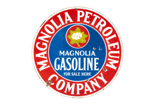 Magnolia Gasoline For Sale Here Porcelain Sign