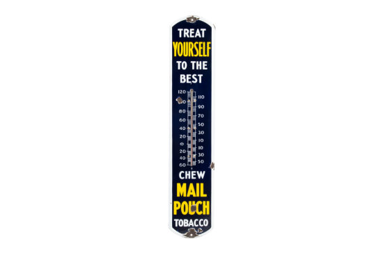 Chew Mail Pouch Tobacco Porcelain Thermometer