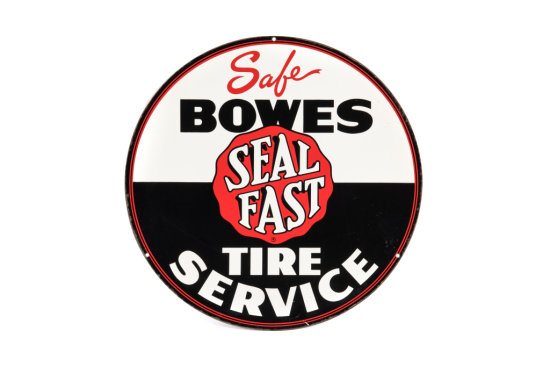 Safe Bowes Seal Fast Tires Service Tin Sign