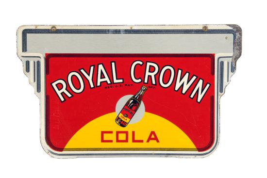 Royal Crown Cola Tin Hanging Sign